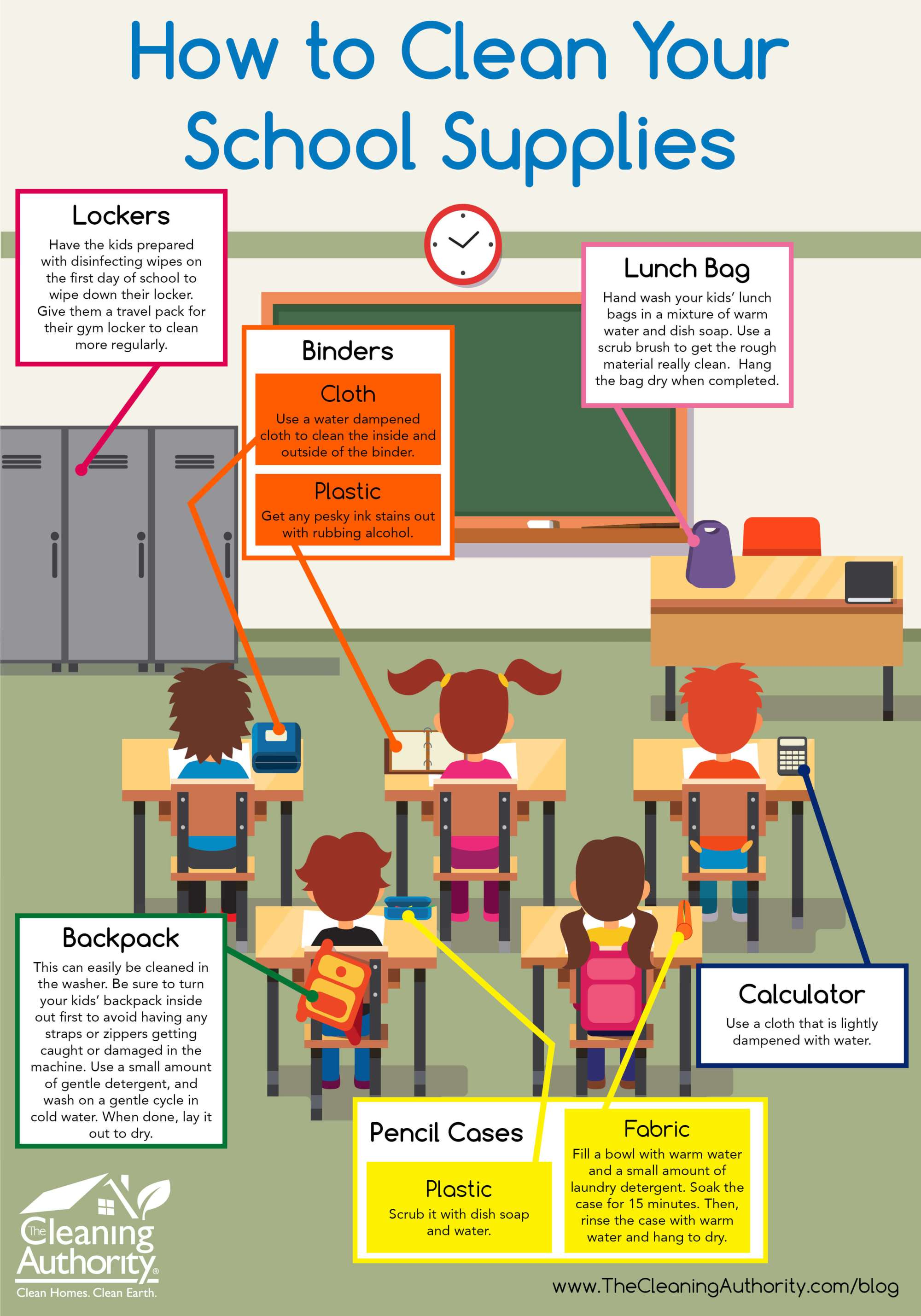 hight resolution of infographic how to clean your school supplies